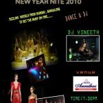 New year Nite 2010 at Hotel Amruthaa international