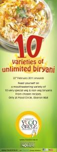 Biriyani Fest @ Oberon Mall